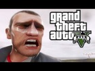 V�deo Grand Theft Auto V: GTA V Gameplay Trailer - Niko's Dramatic Reaction