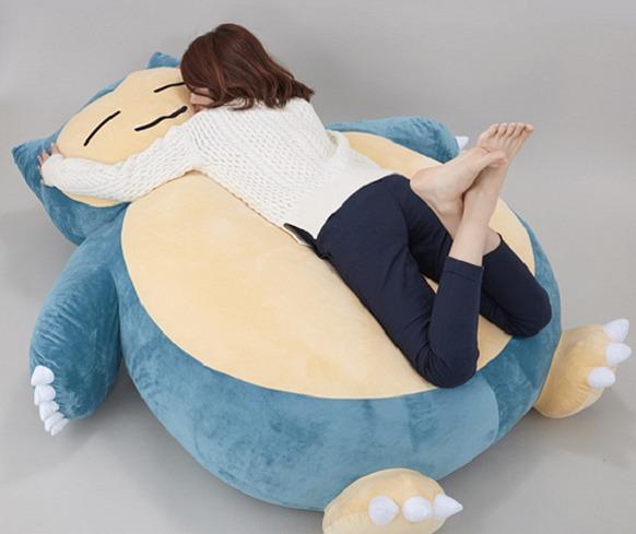 Máxima comodidad Pokémon: llega a las tiendas un puf gigante de Snorlax