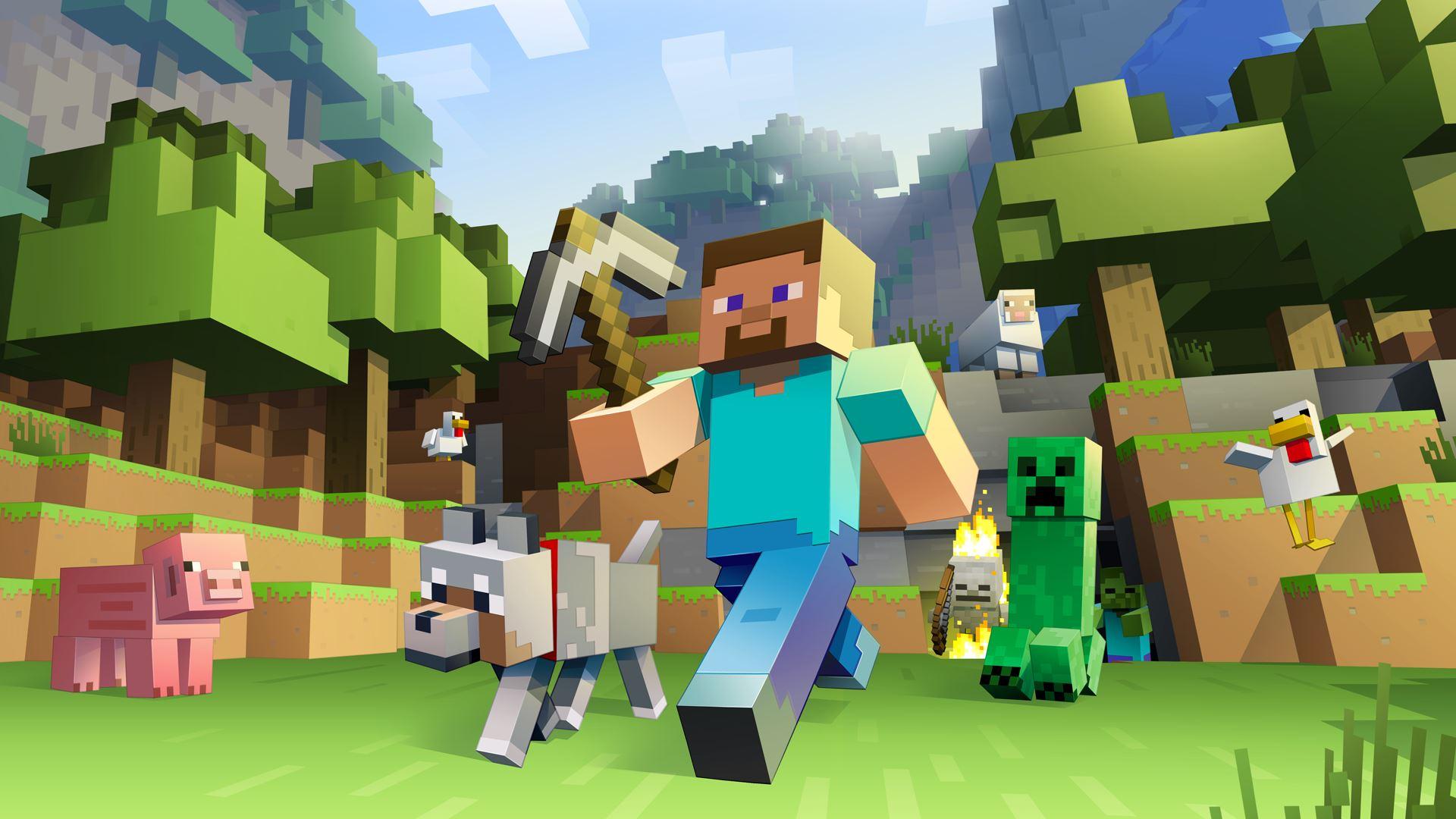 Wonderful image of Minecraft Pocket Edition estrena una gran actualización de contenidos with #679E2D color and 1920x1080 pixels