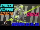 Video: Overwatch Gameplay Español | Let's play Overwatch | Partidas Arcade 3c3 - GENJI | DIRECTO #845
