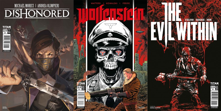 Wolfenstein, Dishonored y The Evil Within tendrán sus propios cómics