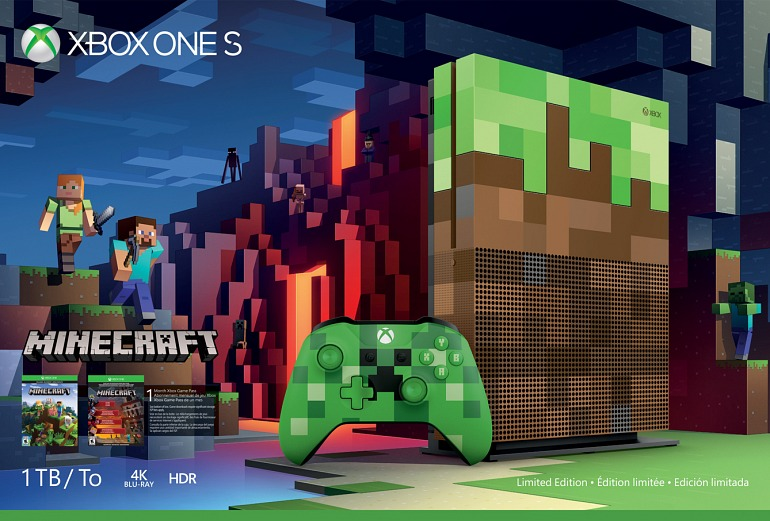 Microsoft presenta una Xbox One S inspirada en Minecraft