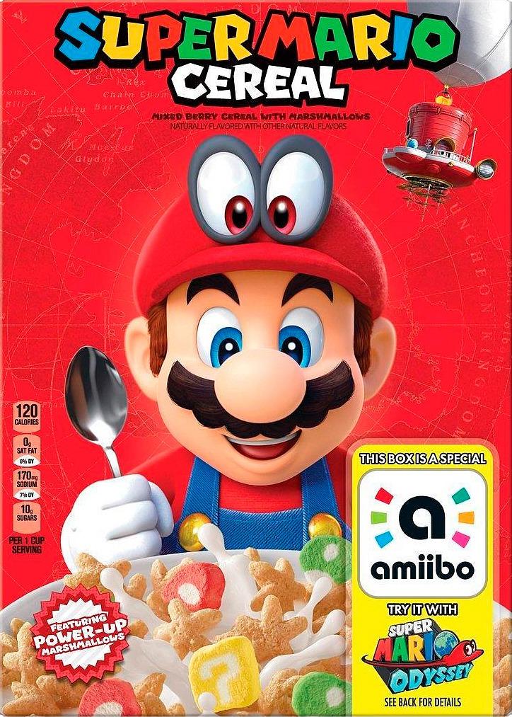 Los nuevos cereales de Kellogg's de Super Mario funcionarían como amiibos