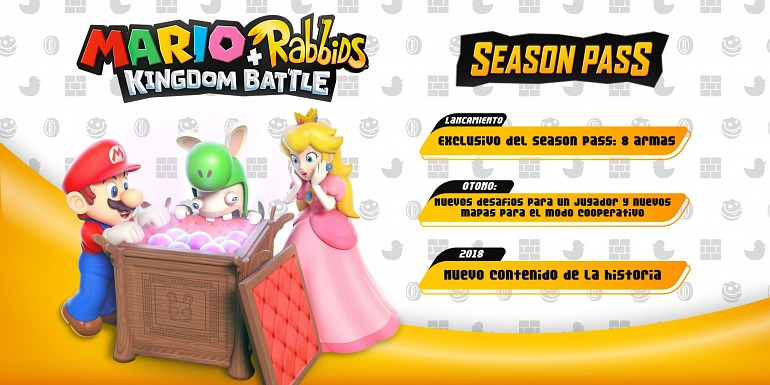 Mario + Rabbids Kingdom Battle detalla su pase de temporada