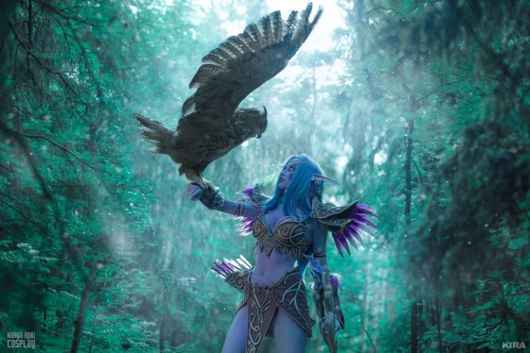 El mejor cosplay de World of Warcraft tiene incluso un búho real