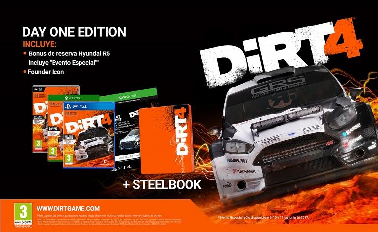 DiRT 4 presenta sus ediciones Day One y Special Edition