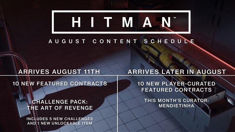 Hitman presenta sus nuevos contenidos para agosto
