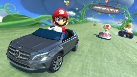Los occidentales también podremos pilotar el Mercedes-Benz en Mario Kart 8